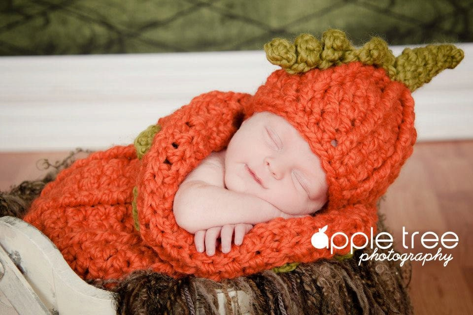 Crochet Pattern For Halloween Chunky Pumpkin Beanie Hat And Etsy