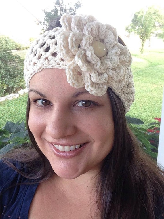Crochet Pattern For Lacy Headwrap Headband Toddler Through Etsy