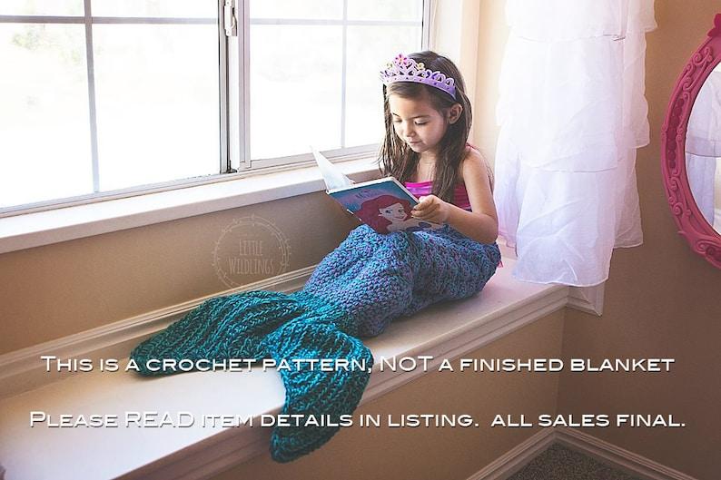 Crochet Pattern For Mermaid Tail Blanket Diy Tutorial To Etsy