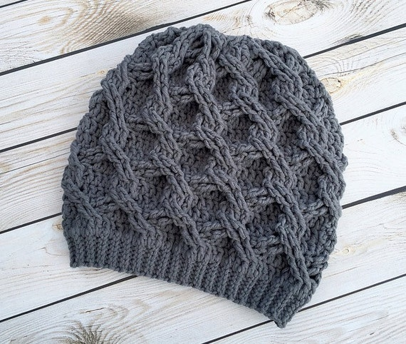 Crochet Pattern For Chain Link Slouch Hat 5 Sizes Baby To Etsy