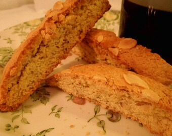 Almond Anise Biscotti, double baked cookies, gift for Her or Him, Great to dunk in coffee!