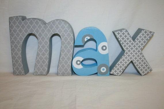 Items Similar To Custom Wood Letters, 3 Letter Set