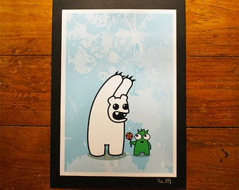 Polo Scare - A4 Print - Urban Graffiti Art - Cute Ltd Edition, Numbered Character Prints. Pop, Graff Creature, Polar Bear