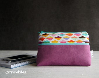 Wristlet Pouch - Zipper Wallet - iPhone Purse Organizer - Gift for Girls - Mini Pouch - Small Colorful Purse - MinnePouch - Ready to Ship