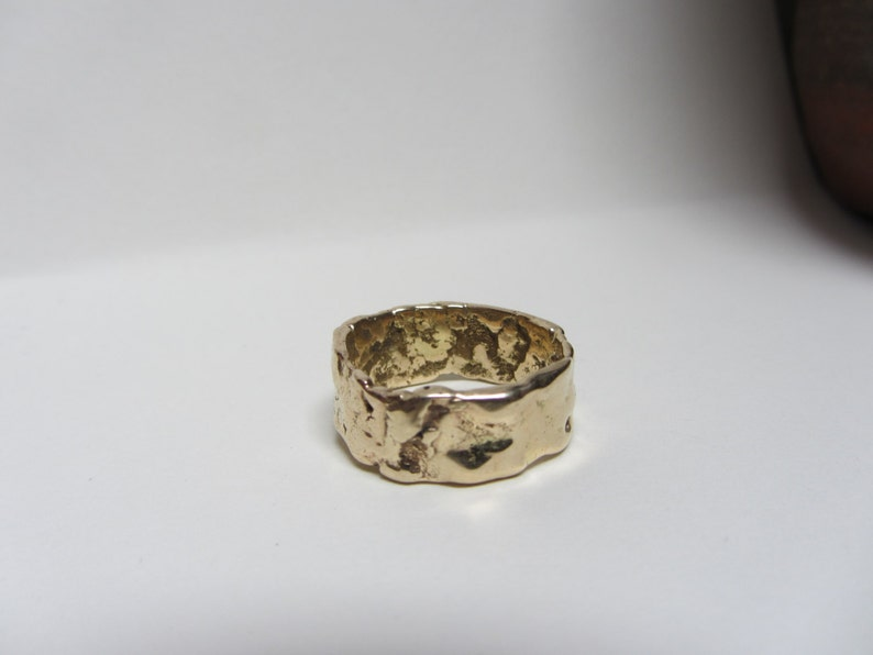 Recycled 14K Yellow Gold Wedding Band image 0