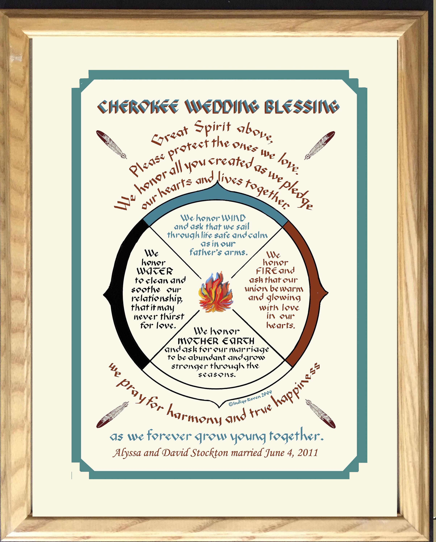 Cherokee Hochzeit Segen personalisierte für Brautpaare | Etsy