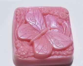 Schmetterling Seife - wählen Sie Ihren Duft - Rosa Schmetterlinge Soap - Spaß, Neuheit - selbstgemachte Seife, Kirsche Bliss Tulpe Sweet Pea Granatapfel Seife