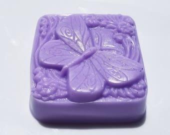 Schmetterling Seife, wählen Sie Ihren Duft, lila Schmetterlinge Seife, Geschenk für sie, hausgemachte Bar Seife Lavendel, Flieder, Traube, Heather, Vanda Orchidee