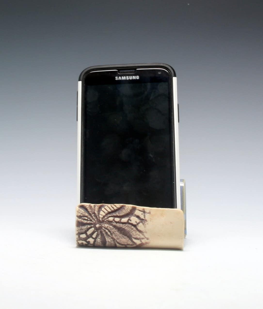 Ceramic Cell Phone Holder Business Card Holder Sponge Etsy