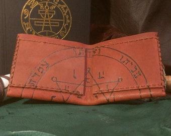Seal of Jupiter Solomonic Talisman Leather Wallet