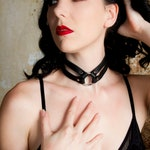 Zorra Leather Choker - Collar - Black
