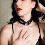 Zorra Leather Choker - Collar - Black