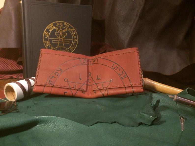 Seal of Jupiter Solomonic Talisman Leather Wallet image 0