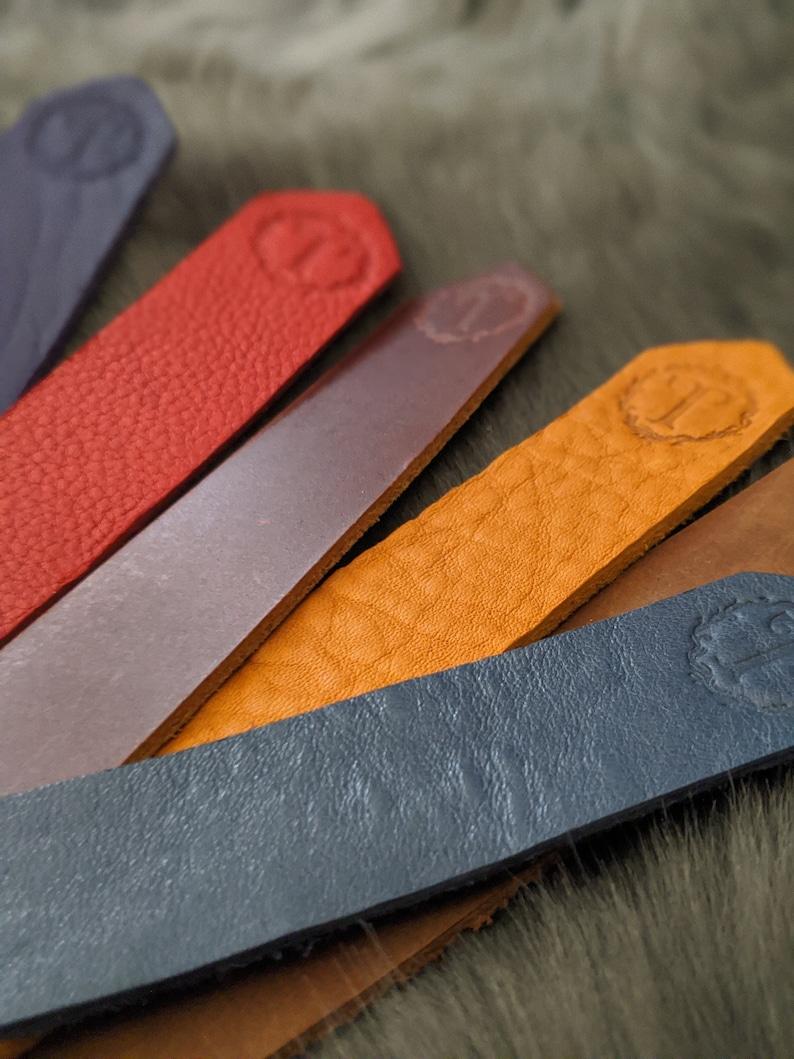 Fringed Leather Bookmark image 0