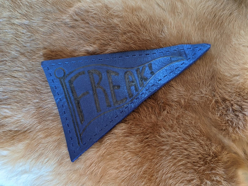 Freak Flag Leather Patch image 0