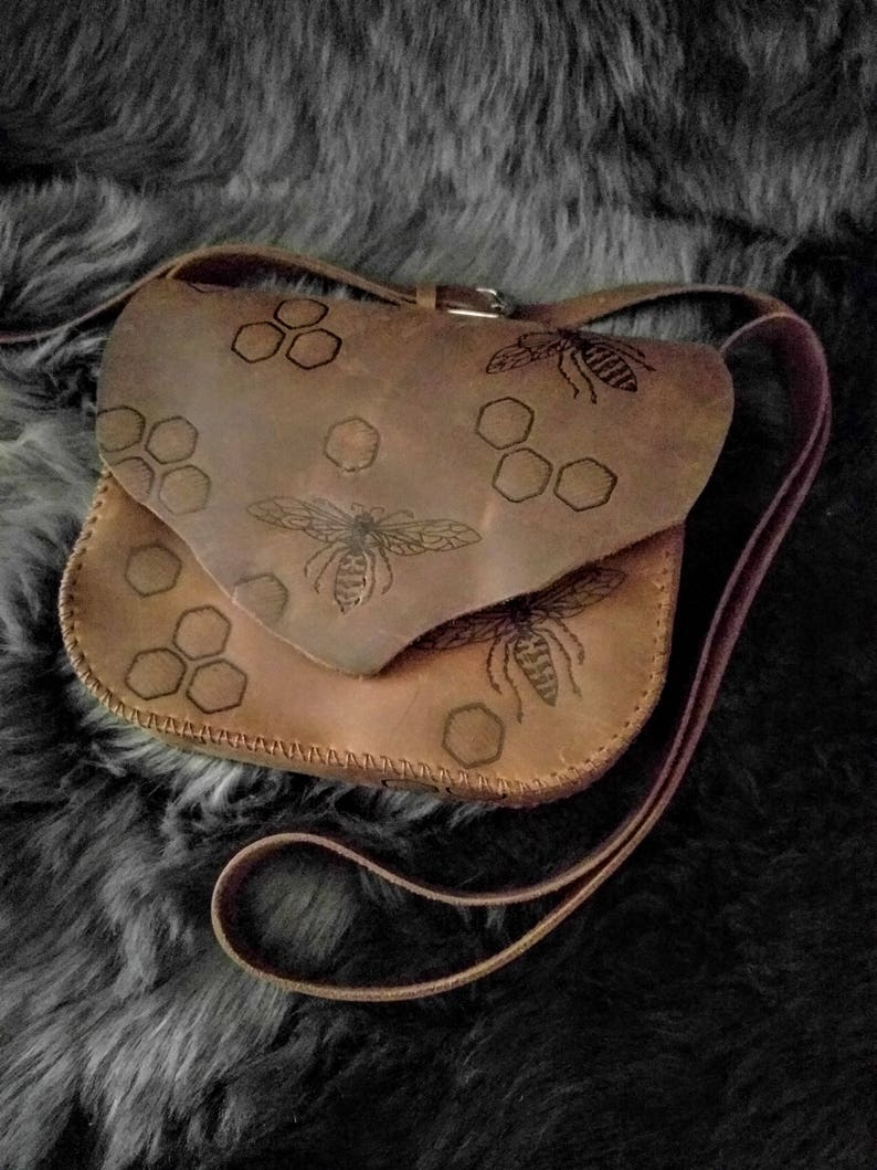Hive Mind Leather Crossbody bag/purse image 0