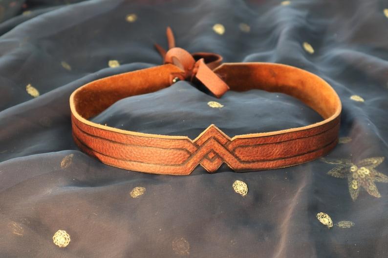 Wonder Woman Leather Headband image 0