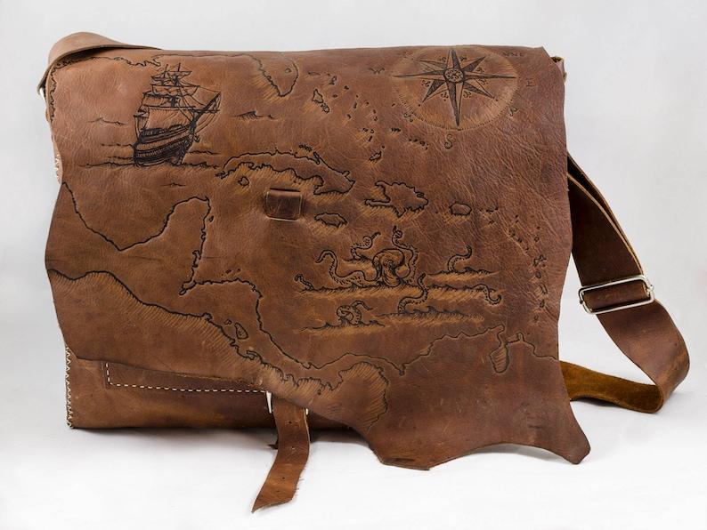 Nautical Explorer Messenger Bag image 0