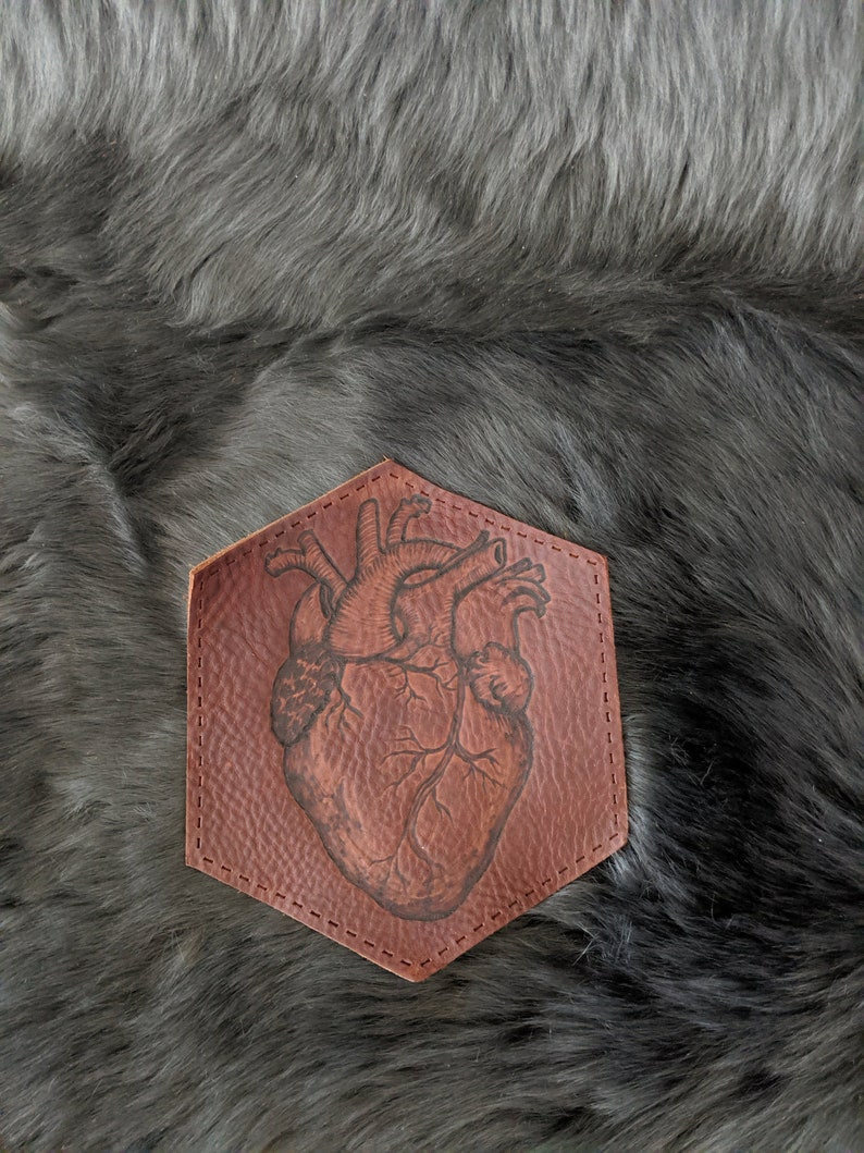 Heart on your sleeve leather patch image 0
