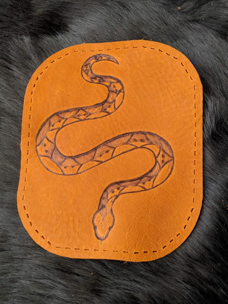 Serpent of Life Leather Patch image 0