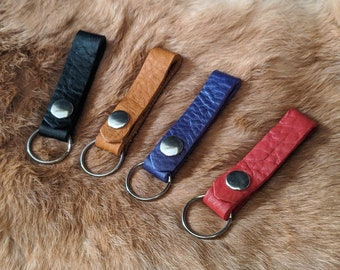 Leather snap Keychain
