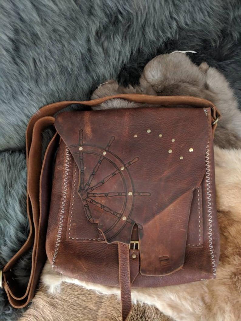 Celestial Navigation Leather Satchel image 0