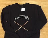 Knitter screen printed sw...