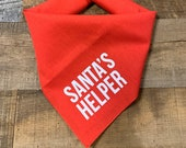 Santa's Helper - Screen Printed Holiday Dog Bandana