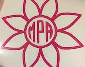 Flower Monogram Decal for...