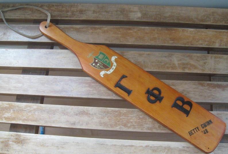 OMICRON Chapter Illinois 1948 Wood Paddle