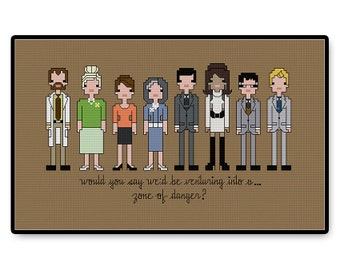 Archer - Cross Stitch PDF Pattern - Gifts for her - Kids - Pixel People - Unique - TV - Movie - Cartoon - Spy - Danger Zone - Comedy - Show