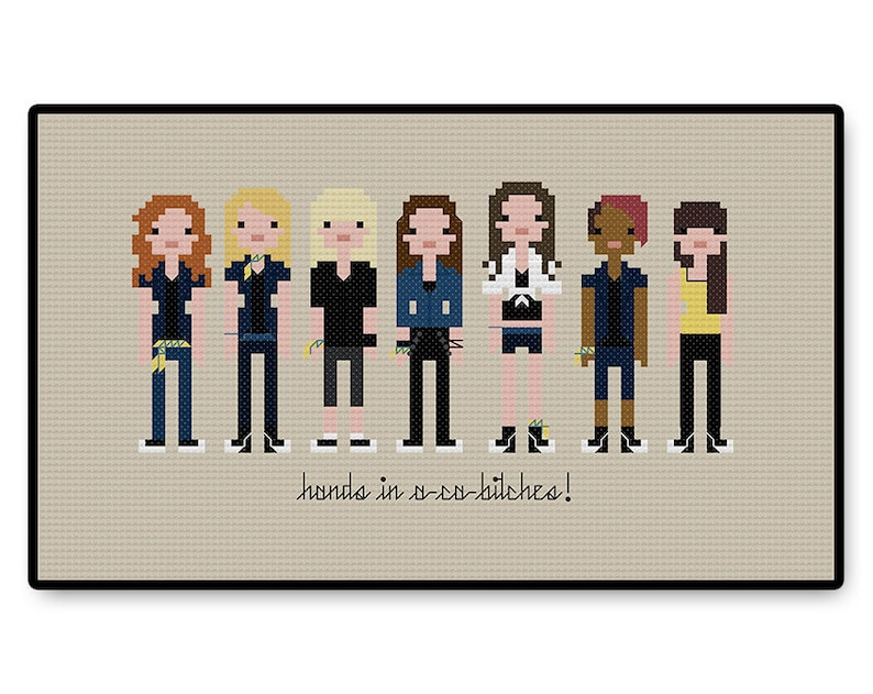 Pitch Perfect - Cross Stitch PDF Pattern Gifts for her - Kids - Pixel  People - Unique - TV - Movie - Cartoon - Acapella - Music - Singing