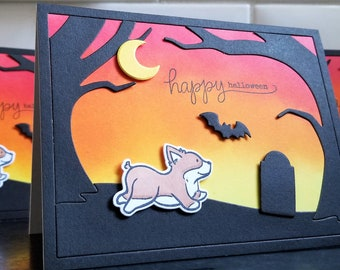 Corgi Dog Halloween Card, Welsh Corgi Gift, Happy Halloween