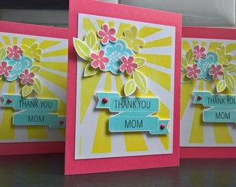 Floral Mother's Day Card, Birthday Card for Mom, Thank You Card for Mother, Mothering Sunday Card, Flower Card for Mum, Mama Appreciation