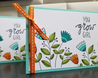 Funny Congratulations Card, You Go Girl, You Grow Girl, Encouragement Card, New Job Card, Weightloss, Engagement Gift, Graduation Retirement