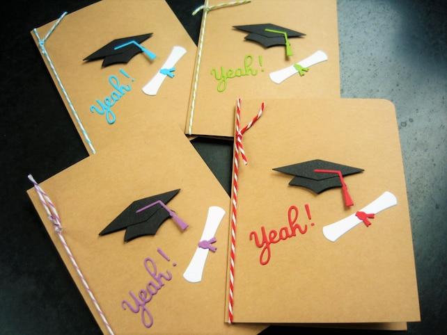 Graduación tarjeta de felicitaciones alta escuela graduación   Etsy