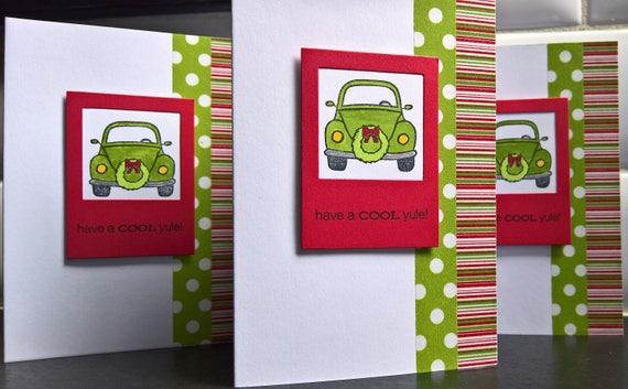 volkswagen weihnachtskarten set 3 vw bug weihnachtskarten. Black Bedroom Furniture Sets. Home Design Ideas