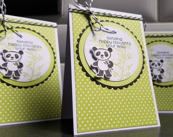 Any Occasion Greeting Card, Blank Cards, Panda Bear Birthday Card, Encouragement, Thinking of You, Get Well Soon, Feel Better