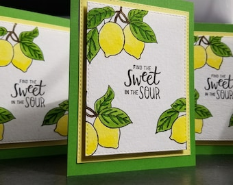 Funny Encouragement Card, Sympathy Card, Thinking of You Card, Support Card, Find the Sweet in the Sour, When Life Gives You Lemons, Divorce