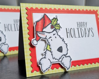 Westie Christmas Card, West Highland Terrier Holiday Cards