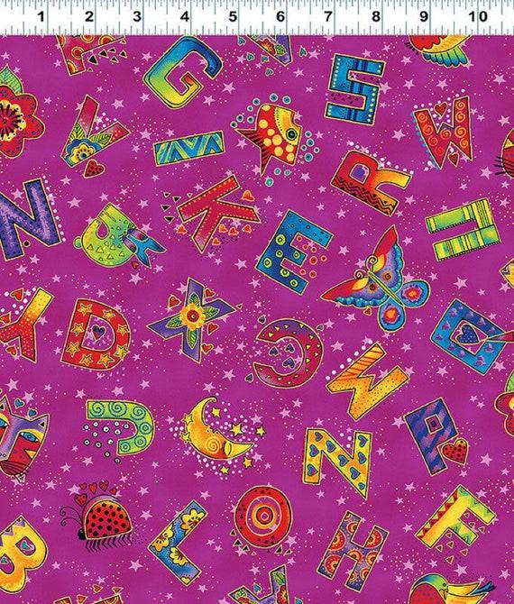 Laurel Burch Laurel Land Fabric Y1784-78M Dark Fuchsia w//Gold Metallic BTY