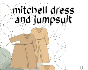The Mitchell Dress and Jumpsuit PDF Pattern Sizes XS-XXL