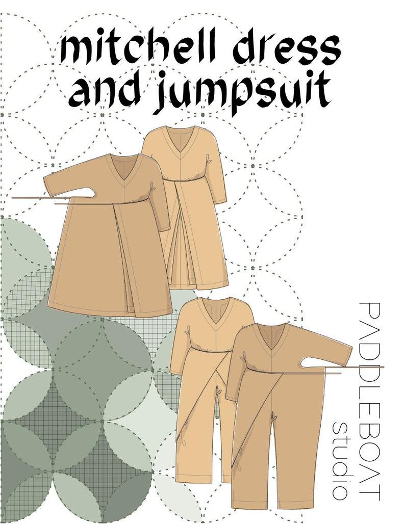 The Mitchell Dress and Jumpsuit PDF Pattern Sizes XS-XXL image 0