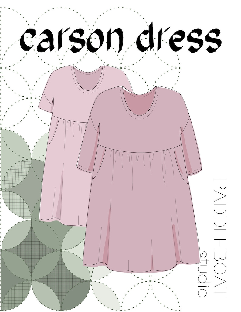 The Carson Dress PDF Pattern Sizes XS-XXL  Now Updated image 0