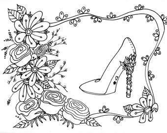Coloring Page Download Wedding Bridal Adult Party Supplies Shower Games Stress Relief Creative