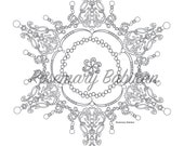 """Adult Coloring Mandala, Exquisite Royal Mandala sold separately from the """"Color Me Royal"""" coloring book on Amazon.com, detailed,  beautiful"""
