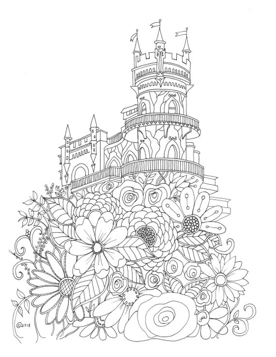 Simple Castle Coloring Page - Free Printable Coloring Pages for Kids | 738x570