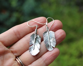 The Raven // Sterling Silver Earrings // Hand Crafted // Artisan // Eco Friendly // The Cider Collection