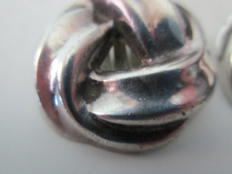 8d4d8d3a8 Barra vintage sterling silver knot earrings clip on   Etsy