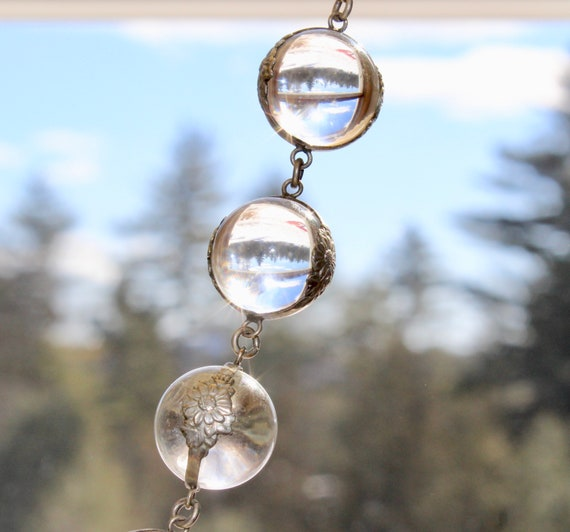 Pools of Light Crystal Art Deco 35 orb Necklace - image 1